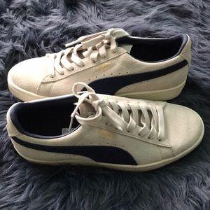 Cream And Blue Puma Sneakers   Poshmark